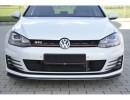 VW Golf 7 GTI Extensie Bara Fata Redo Fibra De Carbon
