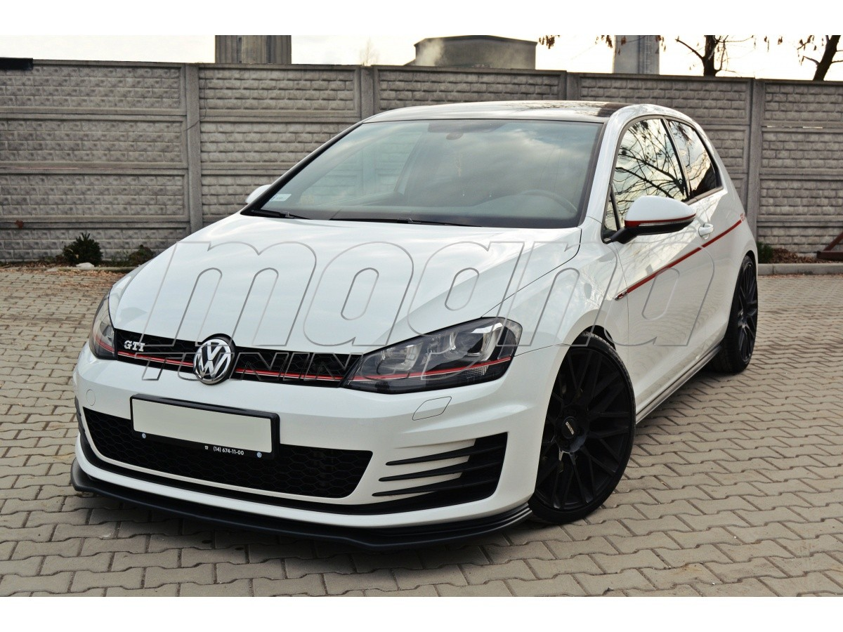 vw golf 7 gti master front bumper extension. Black Bedroom Furniture Sets. Home Design Ideas