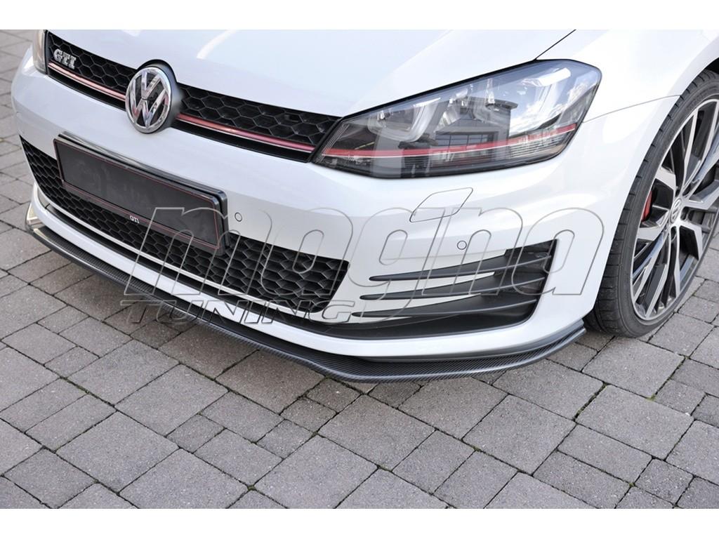 vw golf 7 gti redo carbon fiber front bumper extension. Black Bedroom Furniture Sets. Home Design Ideas