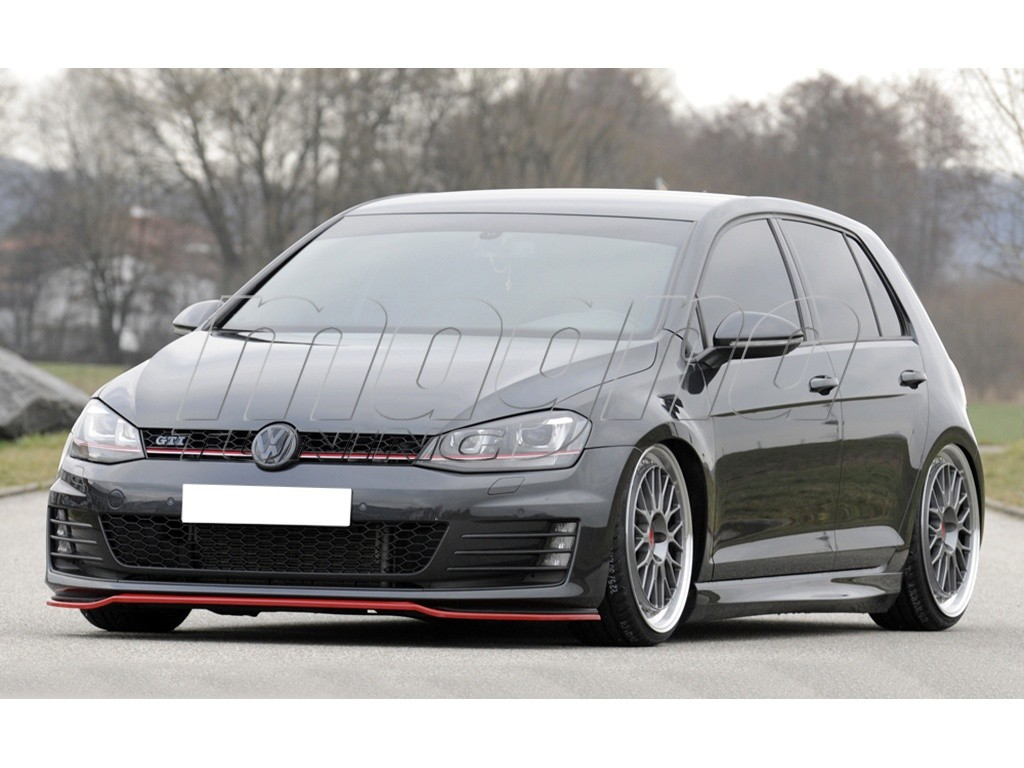 vw golf 7 gti vector front bumper extension. Black Bedroom Furniture Sets. Home Design Ideas