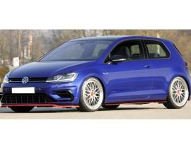 VW Golf 7 R / R-Line Facelift Vector3 Front Bumper Extension