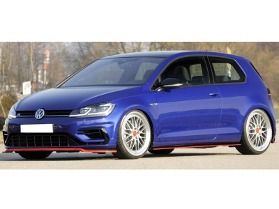 VW Golf 7 R / R-Line Facelift Vector3 Front Bumper Extension