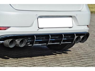 VW Golf 7 R Facelift Eros Rear Bumper Extension