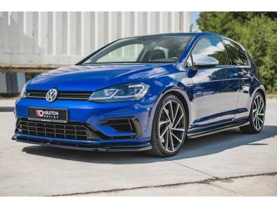 VW Golf 7 R Facelift MaxStyle Front Bumper Extension