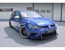 VW Golf 7 R Facelift Racer Carbon Fiber Front Bumper Extension