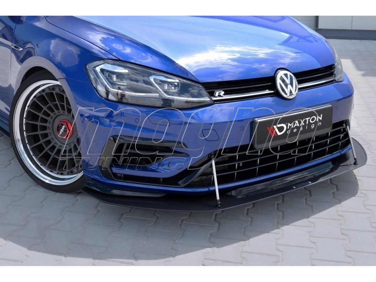 vw golf 7 r facelift racer front bumper extension. Black Bedroom Furniture Sets. Home Design Ideas