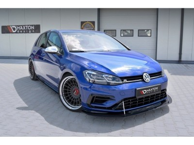 VW Golf 7 R Facelift Racer Front Bumper Extension