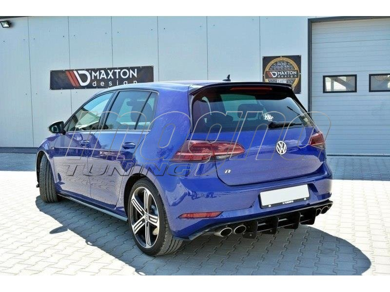 vw golf 7 r facelift racer rear bumper extension. Black Bedroom Furniture Sets. Home Design Ideas