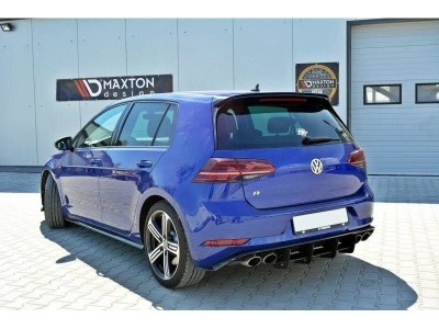 VW Golf 7 R Facelift Racer Rear Bumper Extension