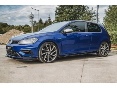 VW Golf 7 R Facelift Racing2 Side Skirt Extensions