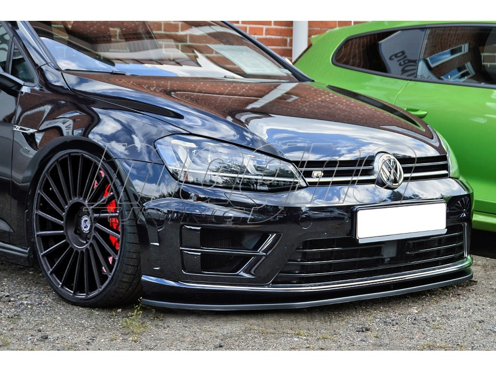 VW Golf 7 R Line I Tech Front Bumper Extension on volkswagen golf mk7
