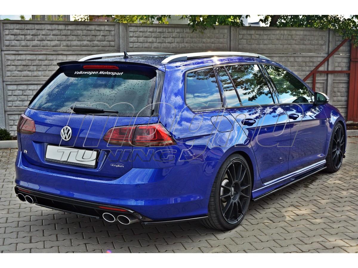 Golf R Estate >> VW Golf 7 R Variant Meteor Heckansatz