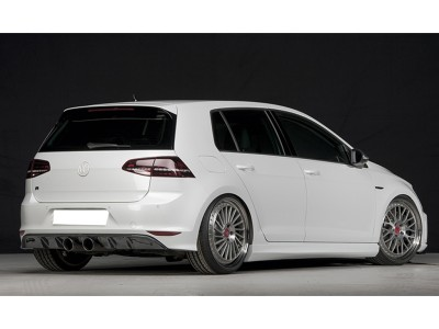 VW Golf 7 R Vortex Rear Bumper Extension