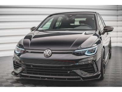 VW Golf 8 R MaxStyle2 Front Bumper Extension