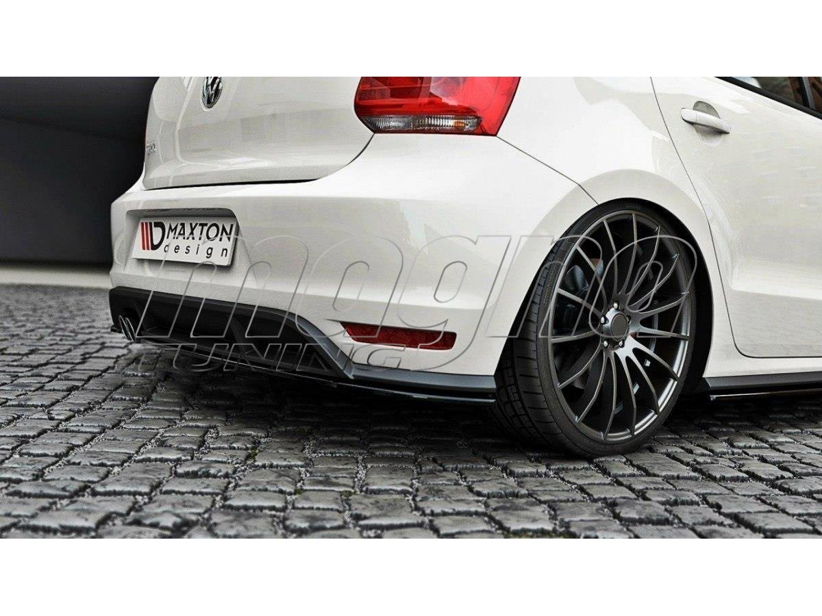 vw polo 6c gti facelift master rear bumper extensions. Black Bedroom Furniture Sets. Home Design Ideas