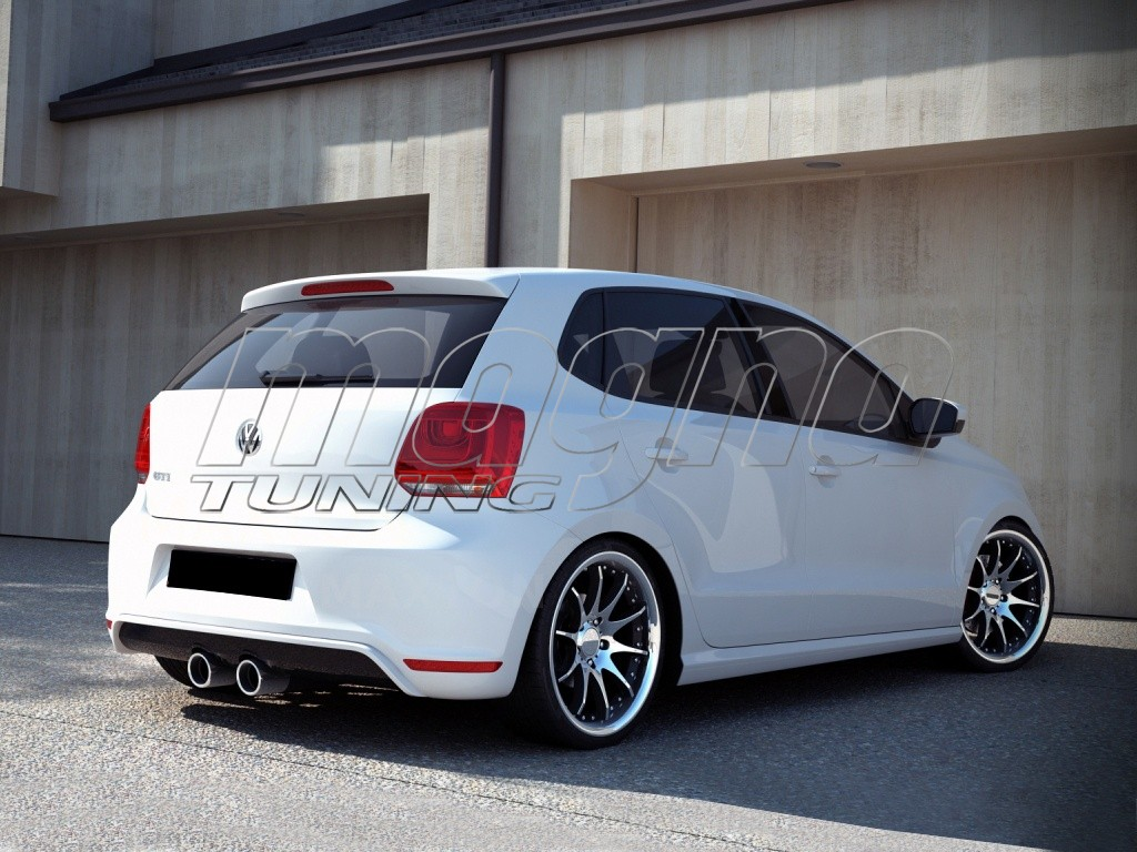vw polo 6r gti r32 look rear bumper extension. Black Bedroom Furniture Sets. Home Design Ideas