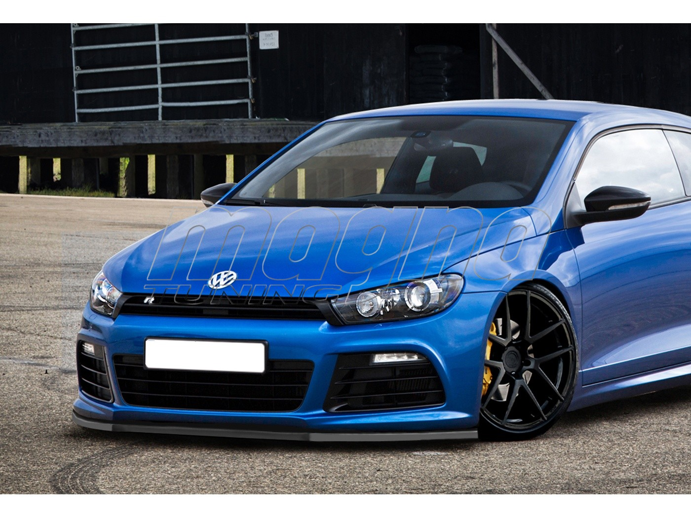 vw scirocco r i tech front bumper extension. Black Bedroom Furniture Sets. Home Design Ideas