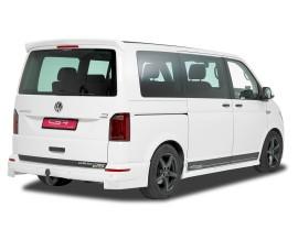 VW Transporter T6 CX Rear Bumper Extensions