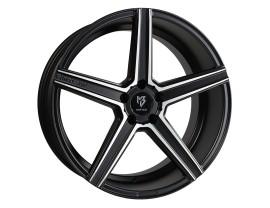 mbDesign KV1 Matt Black Polished Wheel