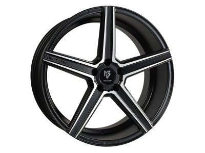 mbDesign KV1 Matt Black Polished Wheel