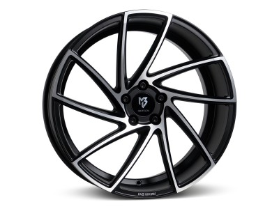 mbDesign KV2 Matt Black Polished Wheel