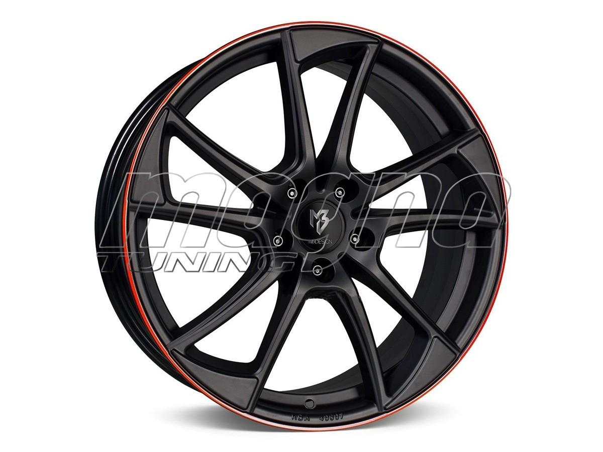 mbDesign MB1 Black Red Wheel