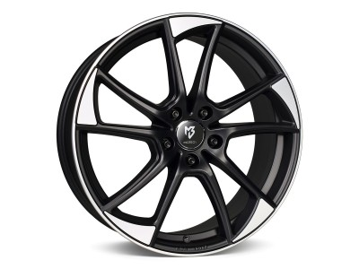mbDesign MB1 Matt Black Polished Wheel