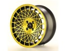 JapanRacing JR14 Black Gold Wheel