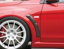 Mitsubishi Lancer EVO 10 RaceStyle Front Wheel Arch Extensions