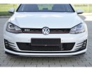 VW Golf 7 GTI Redo Carbon Fiber Front Bumper Extension
