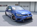 VW Golf 7 R Facelift Racer Carbon Fiber Front Bumper Extension